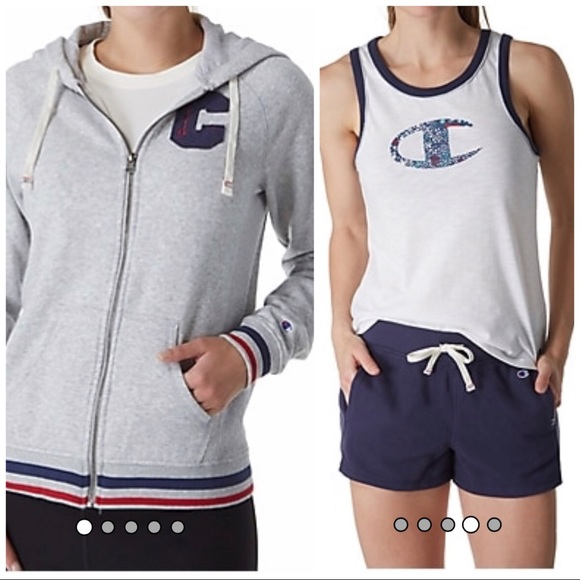 Set of Champion Heritage Hoodie and Tank Top